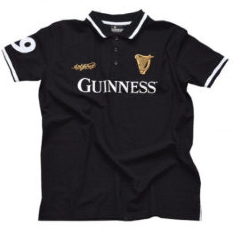 Guinness Polo-Shirt Schwarz