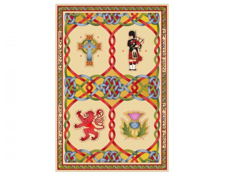 Scottish Weave Geschirrtuch Scottish Emblems