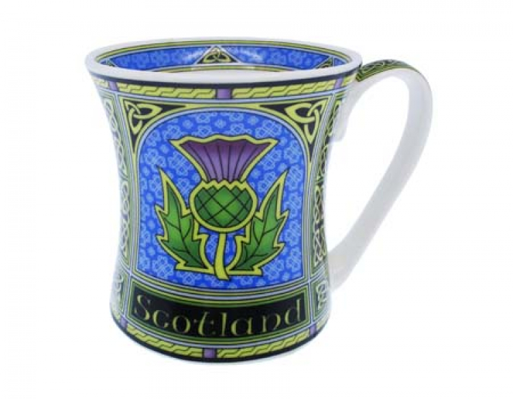 Tasse Thistle Celtic Window