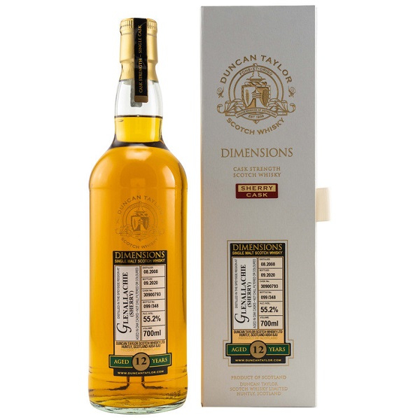 Glenallachie (Sherry) 2008/2020 Duncan Taylor: Dimensions