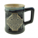 Steingut Becher Celtic Cross